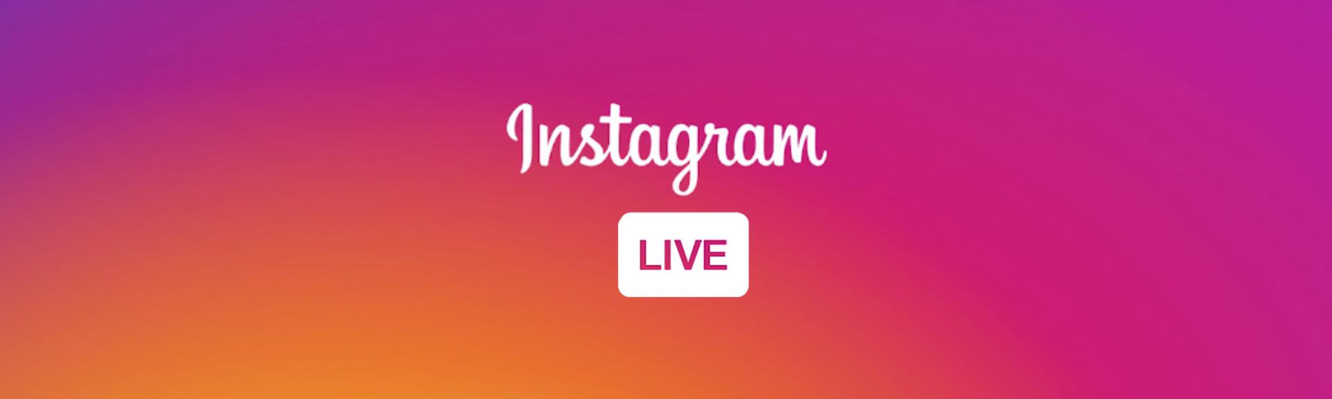 Instagram Live - STAAH Blog