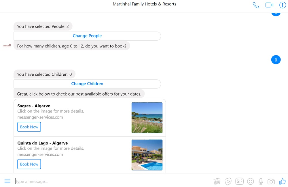 Hotel Booking with Facebook Messenger - STAAH