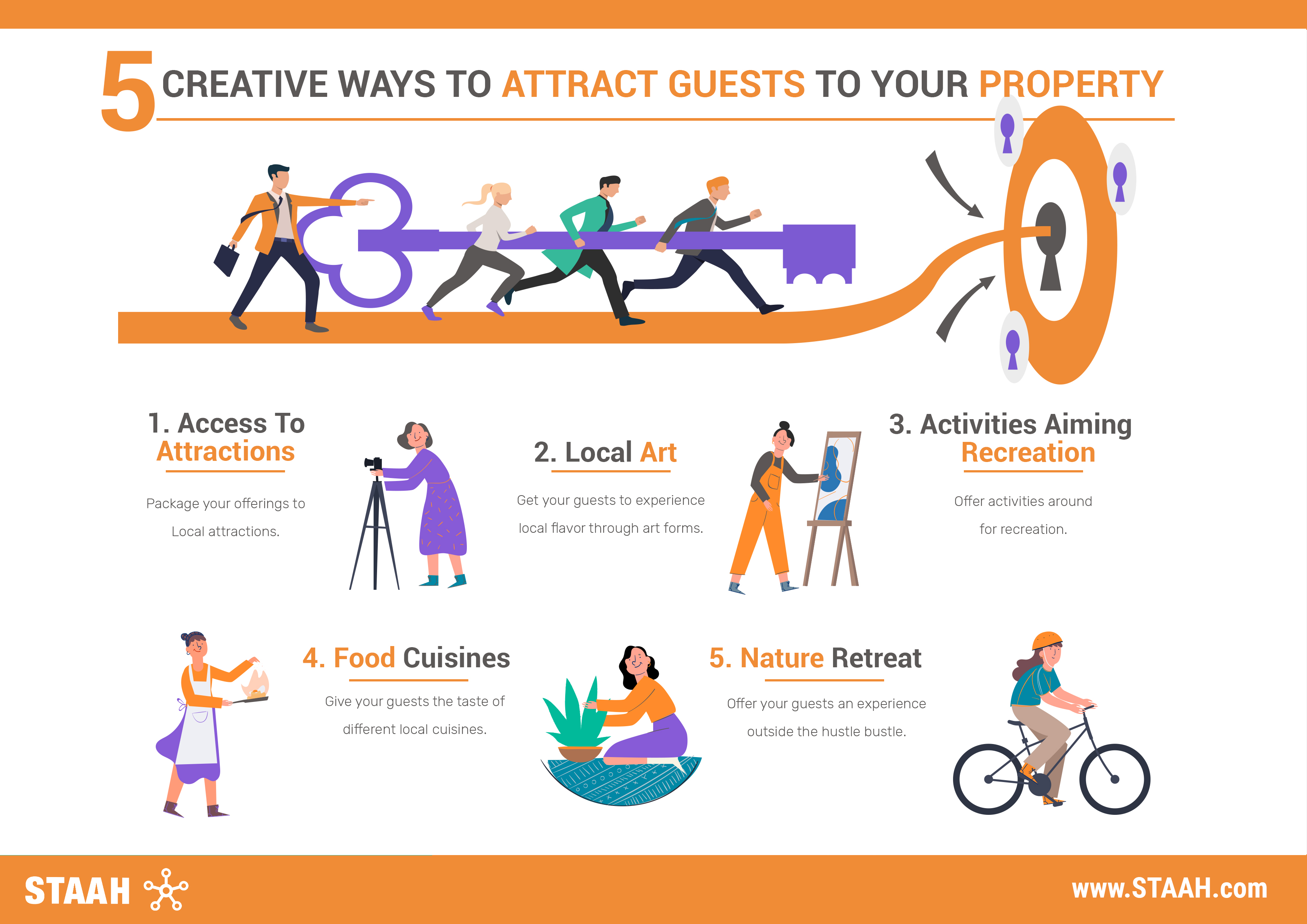 5 Creative ways to attract guests to your property