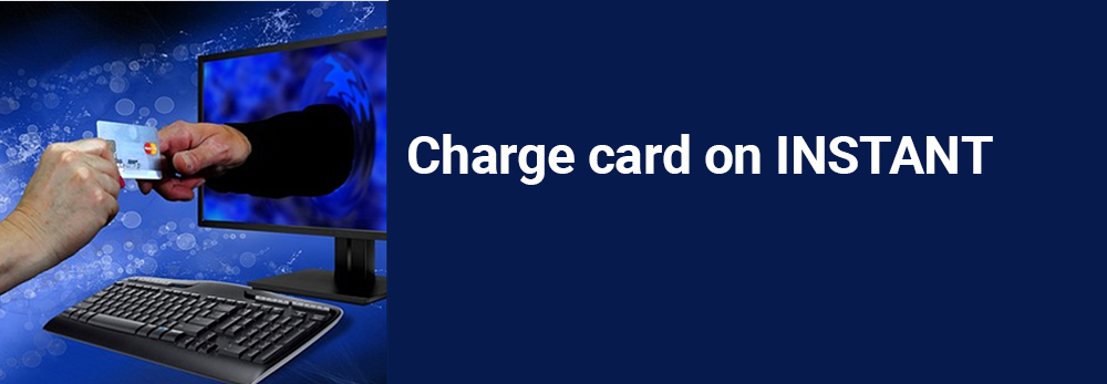 Charge card on INSTANT