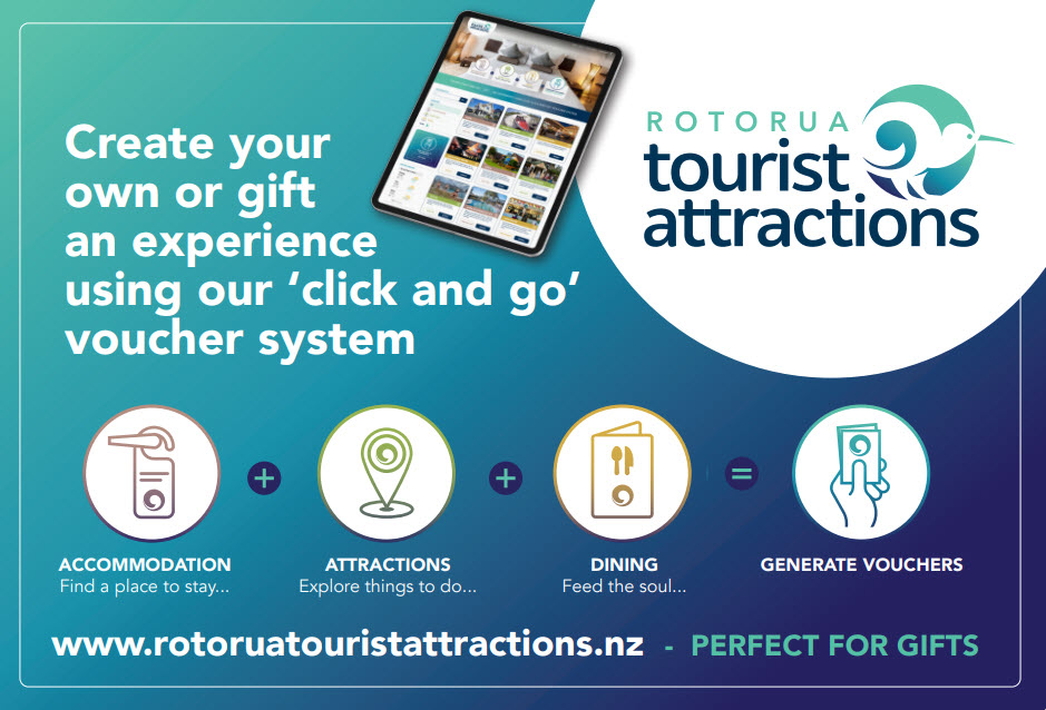 ROTORUA TOURIST ATTRACTIONS LAUNCH AN INNOVATIVE GIFT VOUCHER INITIATIVE