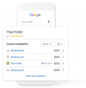 Google Hotel Listing