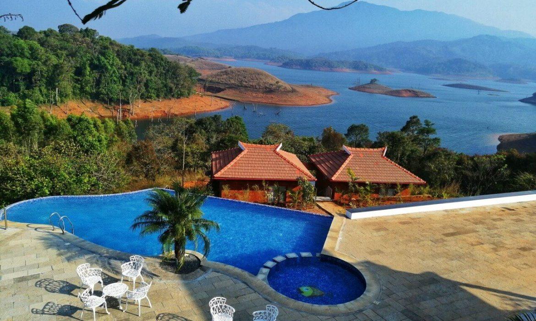 Pool view Contour Island and Resort Kerala India STAAH Blog