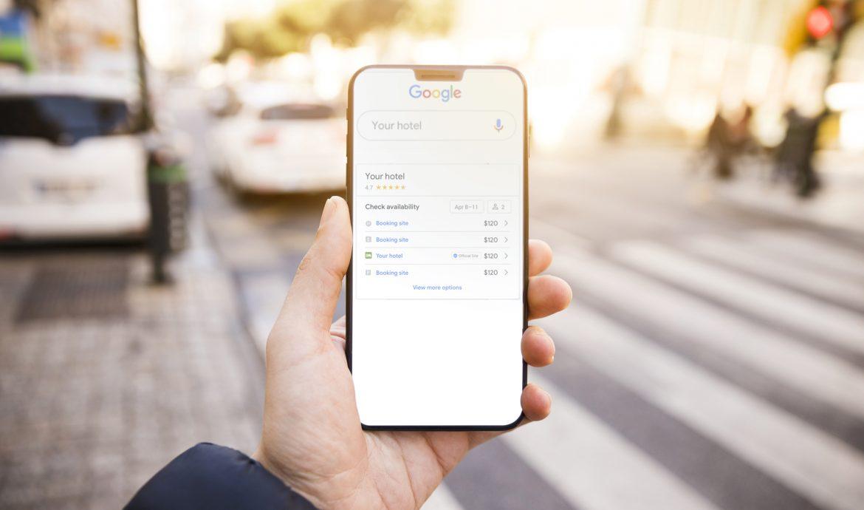 Mobile showing Get Google